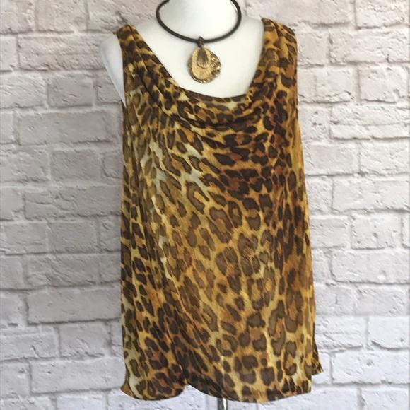 489170a33b2 Lane Bryant Tops - Lane Bryant leopard print tank